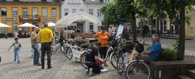 Fahrradaktionstag auf dem Kirchplatz