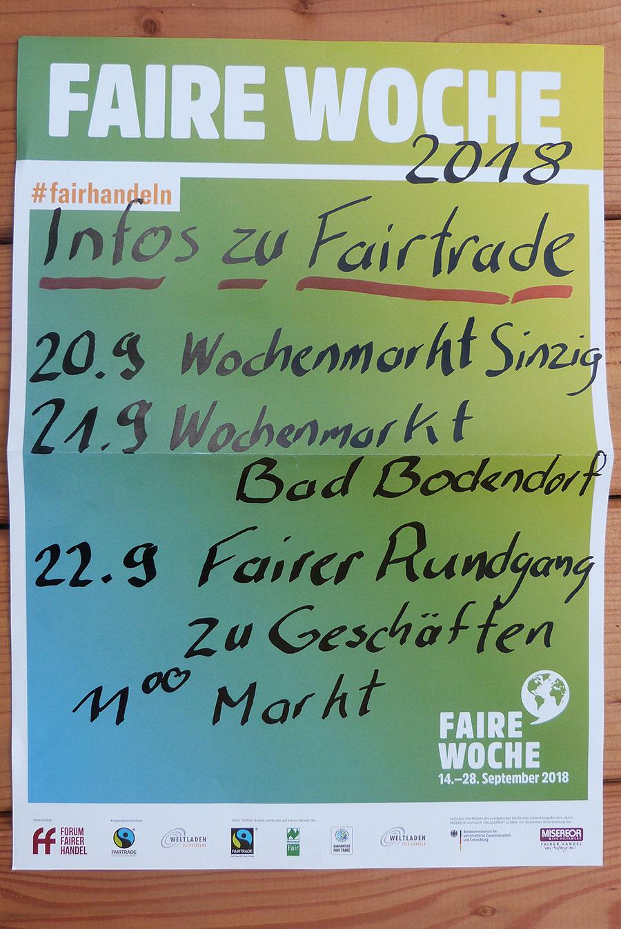 Fairtrade Woche in Sinzig